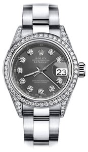 Rolex Rolex Dark Grey 26mm Datejust Diamond Bezel & Lugs Oyster Band