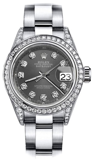 Preload https://img-static.tradesy.com/item/24145924/rolex-stainless-steel-dark-grey-26mm-datejust-diamond-bezel-and-lugs-oyster-band-watch-0-1-540-540.jpg