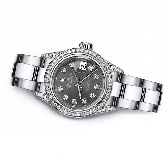 Rolex Rolex Dark Grey 26mm Datejust Diamond Bezel & Lugs Oyster Band Image 2
