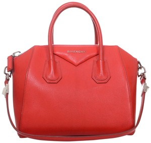 Givenchy Antigona Small Leather Satchel in Red