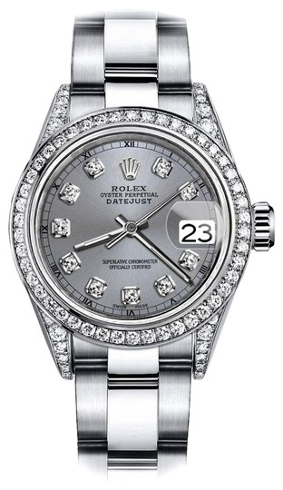 Preload https://img-static.tradesy.com/item/24145948/rolex-stainless-steel-grey-26mm-datejust-diamond-bezel-and-lugs-oyster-bracelet-watch-0-1-540-540.jpg