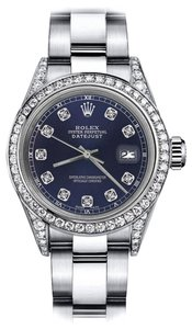 Rolex Rolex Navy Blue 26mm Datejust Diamonds Bezel & Lugs Oyster Bracelet