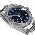 Rolex Rolex Navy Blue 26mm Datejust Diamonds Bezel & Lugs Oyster Bracelet Image 1