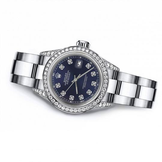 Rolex Rolex Navy Blue 26mm Datejust Diamonds Bezel & Lugs Oyster Bracelet Image 2