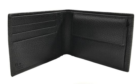 Gucci NEW GUCCI 292534 Men's Leather Bifold Wallet, Black Image 2