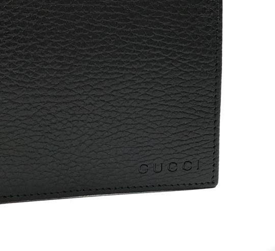 Gucci NEW GUCCI 292534 Men's Leather Bifold Wallet, Black Image 5