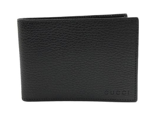 Gucci NEW GUCCI 292534 Men's Leather Bifold Wallet, Black Image 9