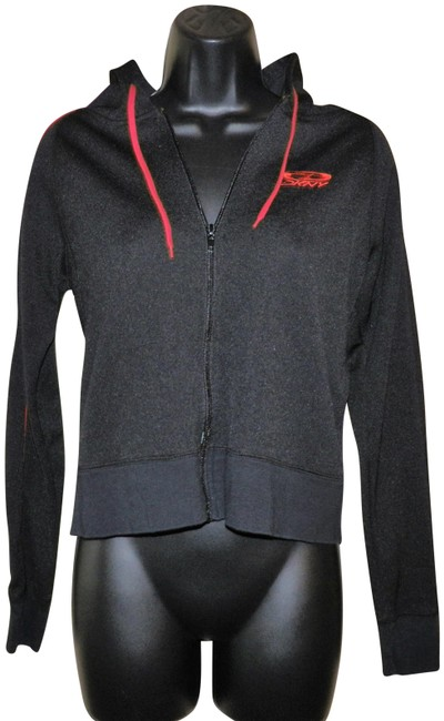 Item - Black with Red Trim Active & Zipper Activewear Outerwear Size 8 (M)