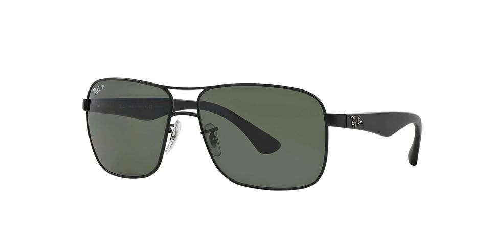 bfc8fb0d32 Ray-Ban RAY-BAN SUNGLASS RB 3516 006 9A 0069A MATTE BLACK POLARIZED ...