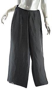 Giorgio Armani Dark Sage Wide Leg Flare Pants Green