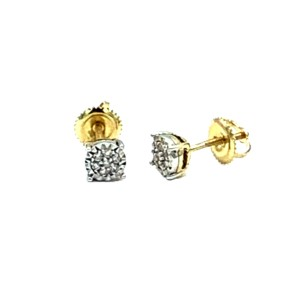 Other (004) 14K Yellow Gold Diamond Stud Earrings