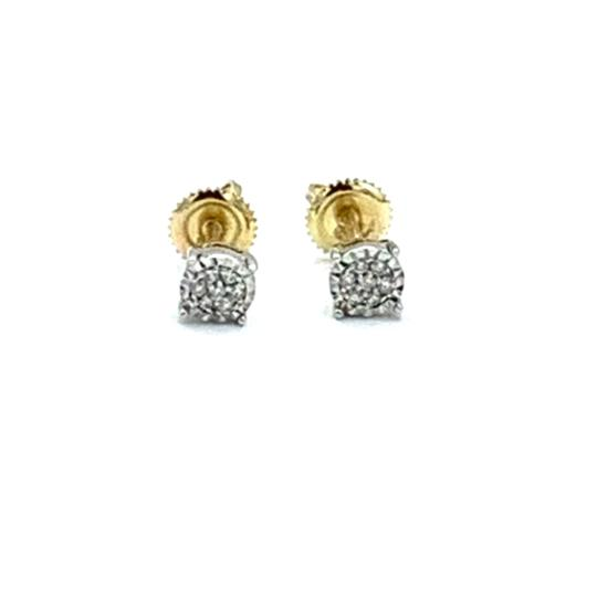 Other (004) 14K Yellow Gold Diamond Stud Earrings Image 1