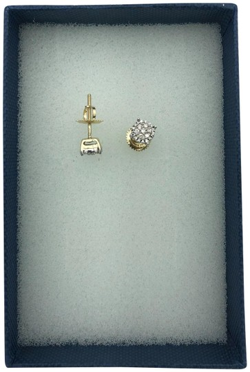 Other (004) 14K Yellow Gold Diamond Stud Earrings Image 2