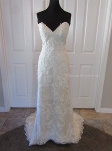 Sottero and Midgley Ivory/Nude Lace Ellington 7ss388 Feminine Wedding Dress Size 12 (L)