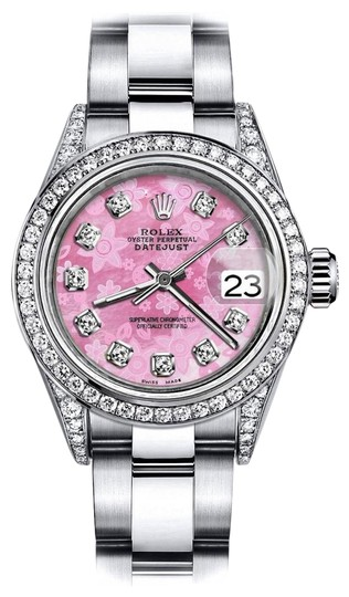 Preload https://img-static.tradesy.com/item/24146104/rolex-stainless-steel-pink-flower-26mm-datejust-natural-diamond-lugs-and-bezel-watch-0-1-540-540.jpg