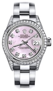 Rolex Rolex Pink Pearl 26mm Datejust Diamonds Bezel & Shoulders