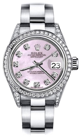 Preload https://img-static.tradesy.com/item/24146169/rolex-stainless-steel-pink-pearl-26mm-datejust-diamonds-bezel-and-shoulders-watch-0-1-540-540.jpg