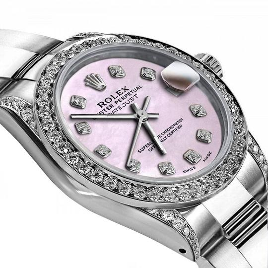 Rolex Rolex Pink Pearl 26mm Datejust Diamonds Bezel & Shoulders Image 1