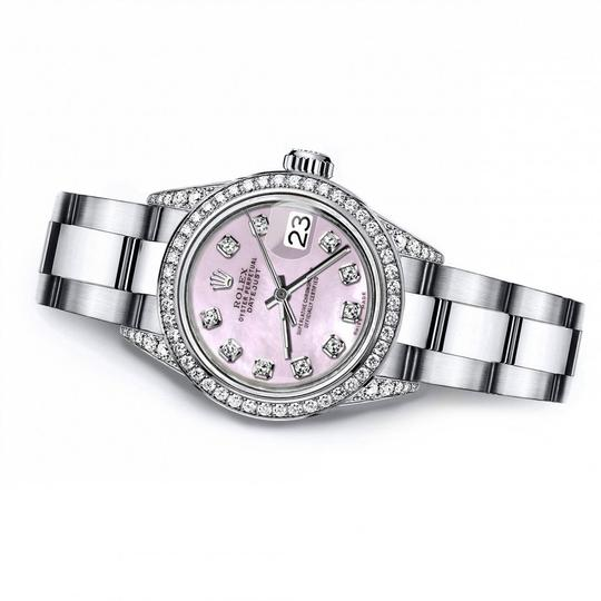 Rolex Rolex Pink Pearl 26mm Datejust Diamonds Bezel & Shoulders Image 2