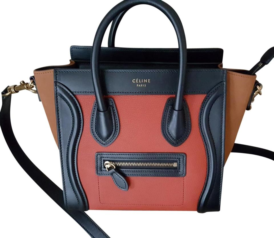 Céline Luggage Nano 3-color Multi-color Leather Tote - Tradesy 3e7afd0d0e870
