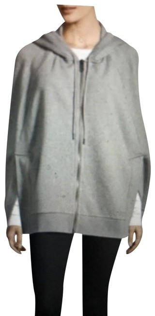 Preload https://img-static.tradesy.com/item/24146188/burberry-grey-cottonpolyester-hooded-ponchocape-size-os-0-1-650-650.jpg