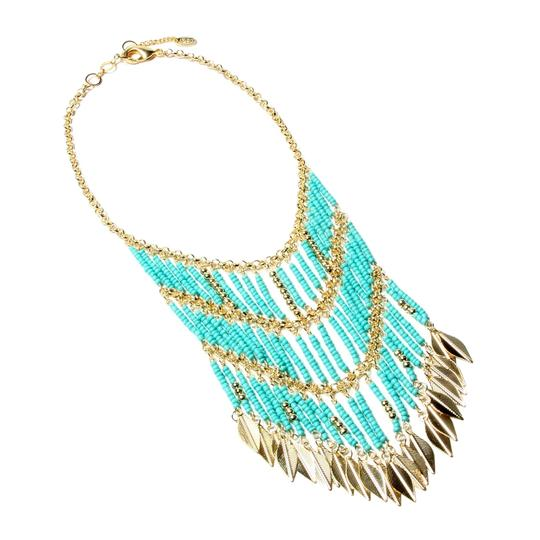 Preload https://img-static.tradesy.com/item/24146191/turquoise-gold-eastern-vibe-new-necklace-0-0-540-540.jpg
