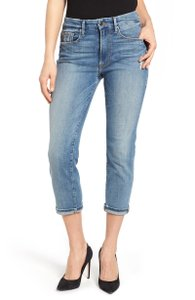 Good American Boyfriend Relaxed Capri/Cropped Denim-Light Wash