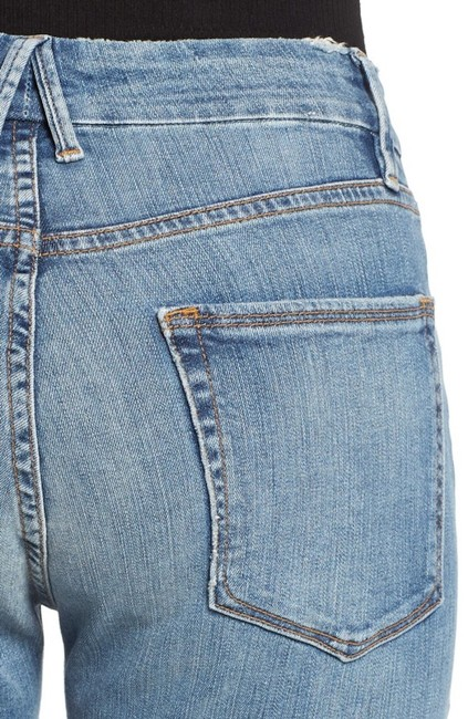 Good American Boyfriend Relaxed Capri/Cropped Denim-Light Wash Image 1