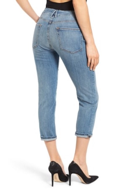 Good American Boyfriend Relaxed Capri/Cropped Denim-Light Wash Image 2