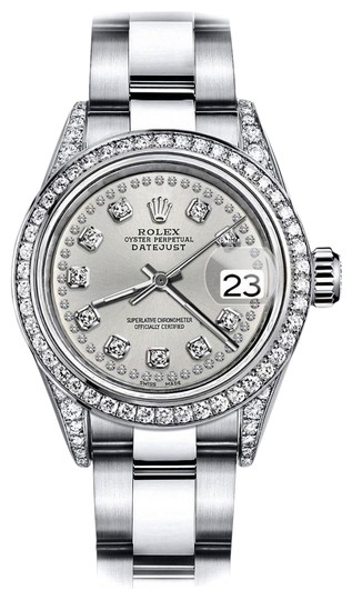 Preload https://img-static.tradesy.com/item/24146268/rolex-stainless-steel-silver-string-26mm-datejust-diamonds-bezel-and-shoulders-oyster-watch-0-1-540-540.jpg