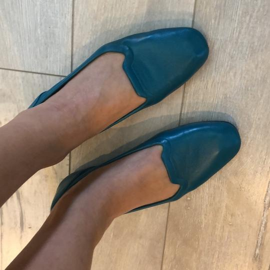 Hermès Leather Ballet Flats Comes With Dust Bag teal Flats Image 1