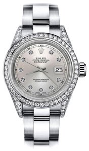 Rolex Rolex Silver Track 26mm Datejust Diamonds Bezel & Shoulders Oyster