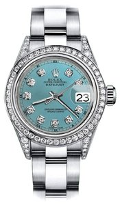 Rolex Rolex Turquoise 26mm Datejust Real Diamonds Bezel & Shoulders
