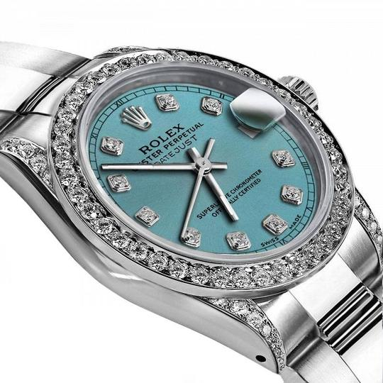 Rolex Rolex Turquoise 26mm Datejust Real Diamonds Bezel & Shoulders Image 1