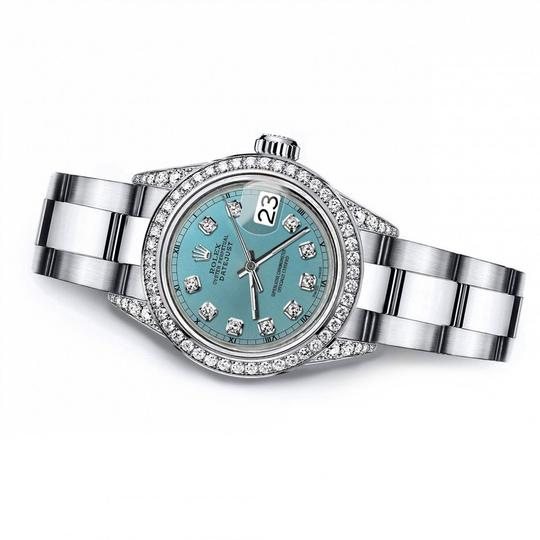 Rolex Rolex Turquoise 26mm Datejust Real Diamonds Bezel & Shoulders Image 2