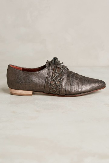Anthropologie Leather Oxford Brown & Black Flats Image 1