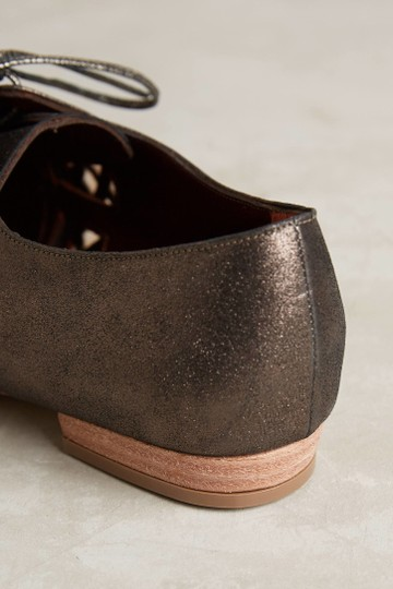 Anthropologie Leather Oxford Brown & Black Flats Image 2
