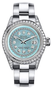 Rolex Rolex Turquoise String 26mm Datejust Diamonds Bezel & Lugs Oyster