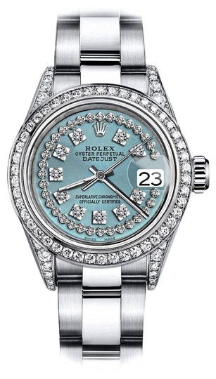 Preload https://img-static.tradesy.com/item/24146367/rolex-stainless-steel-turquoise-string-sp-26mm-datejust-diamonds-bezel-and-lugs-oyster-watch-0-1-540-540.jpg