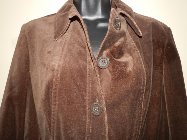 Jones New York Velvety Cotton Machine Washable Buttoned Brown Jacket Image 1