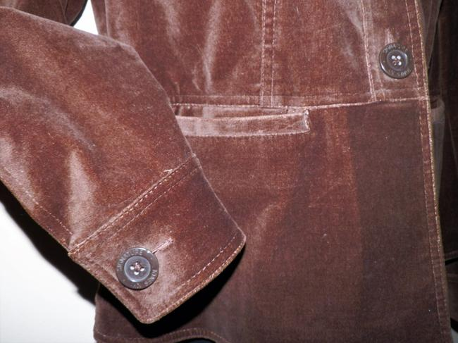 Jones New York Velvety Cotton Machine Washable Buttoned Brown Jacket Image 2