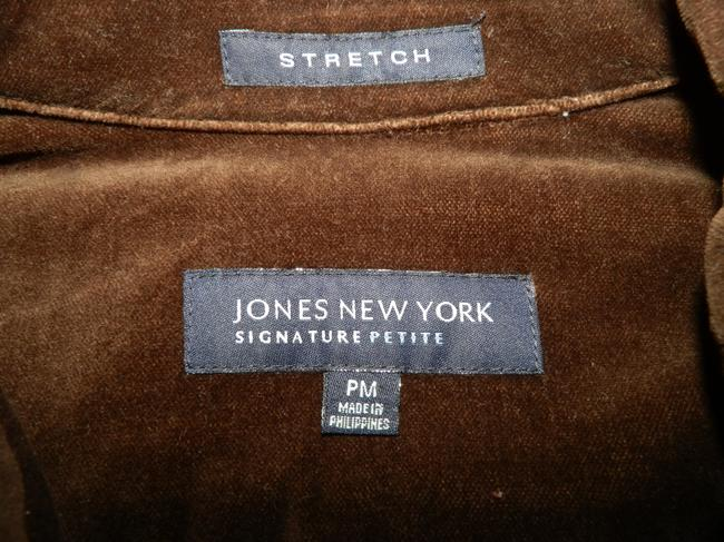 Jones New York Velvety Cotton Machine Washable Buttoned Brown Jacket Image 5