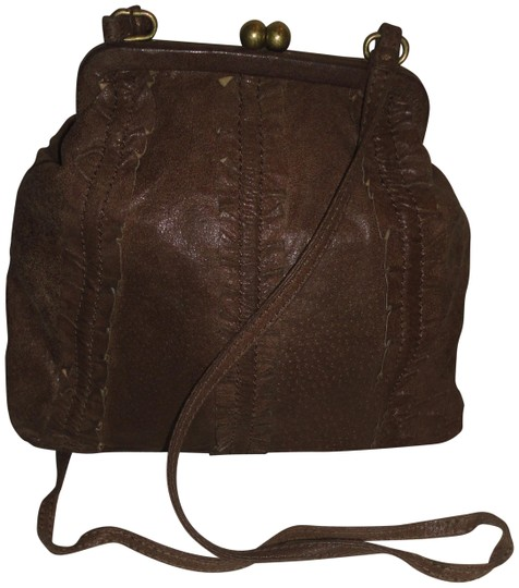 Preload https://img-static.tradesy.com/item/24146460/hype-small-with-ruffle-trim-brown-leather-shoulder-bag-0-1-540-540.jpg