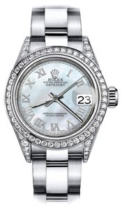 Rolex Rolex White Pearl Roman 26mm Datejust Diamonds Bezel & lugs Oyster