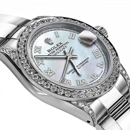 Rolex Rolex White Pearl Roman 26mm Datejust Diamonds Bezel & lugs Oyster Image 1