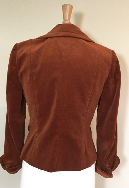 Jennifer Reale Designs Jacket Velvet Short Rust Blazer Image 3