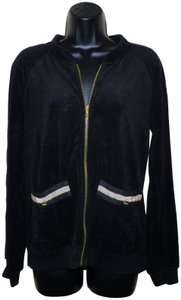 Juicy Couture Juicy Couture Black Soft Zip Front Jacket
