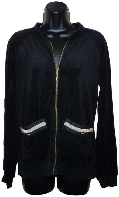 Juicy Couture Juicy Couture Black Soft Zip Front Jacket Image 0