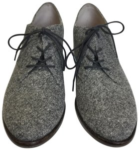 Louise et Cie Oxford black and white tweed Flats