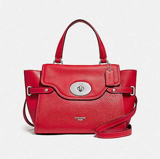 Coach Satchel in Red Image 11